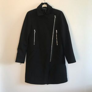 Zara Woman Jacket with Silver Exposed Zipper